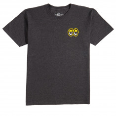 Krooked Eyes T-Shirt - Charcoal Heather/Yellow