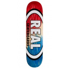 "Real Angle Dip Oval Skateboard Deck - 7.75"" - Red/Blue"