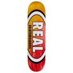 "Real Angle Dip Oval Skateboard Deck - 8.06"" - Yellow/Red"