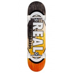 "Real Angle Dip Oval Skateboard Complete - 8.12"" - Black/Orange"