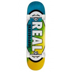 "Real Angle Dip Oval Skateboard Complete - 8.25"" - Blue/Yellow"