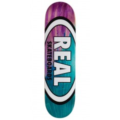 "Real Angle Dip Oval Skateboard Deck - 8.38"" - Purple/Teal"
