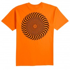 Spitfire Classic Swirl T-Shirt - Orange/Black