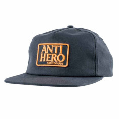 Anti-Hero Reserve Patch Hat - Charcoal/Orange