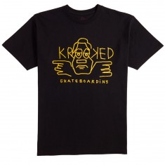 Krooked Dude T-Shirt - Black/Orangish
