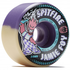 Spitfire F4 99 Jamie Foy Conical Full Skateboard Wheels - Purple/Natural Swirl - 54mm