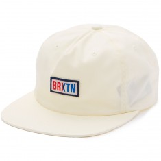 Brixton Hayward Snapback Hat - Off White