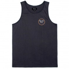 Brixton Wheeler Tank Top - Black/Rust