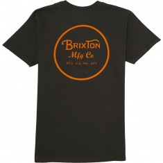 Brixton Wheeler II T-Shirt - Washed Black/Orange