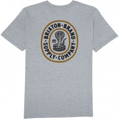 Brixton Pace Standard T-Shirt - Heather Grey