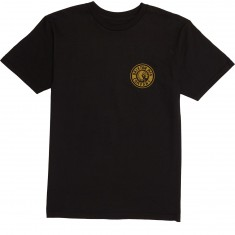 Brixton Rival II T-Shirt - Black/Copper