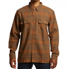 Brixton Archie Longsleeve Flannel Shirt - Copper/Shale Brown