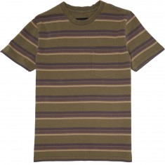 Brixton Hilt Washed Pocket T-Shirt - Olive/Brown