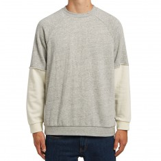 Brixton Knowles Crew Fleece Shirt - Light Heather Grey