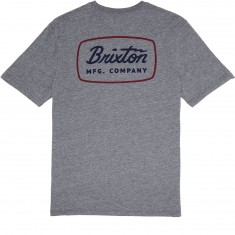 Brixton Jolt T-Shirt - Heather Grey/Navy