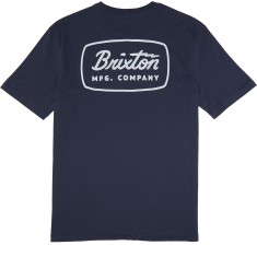 Brixton Jolt T-Shirt - Steele Blue/White