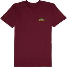 Brixton Normandie T-Shirt - Burgundy