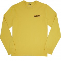 Brixton Times Longsleeve T-Shirt - Washed Yellow