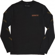 Brixton Maron Longsleeve T-Shirt - Washed Black