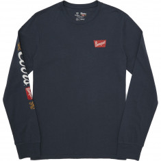Brixton X Coors Primary Long Sleeve Premium T-Shirt - Steel Blue