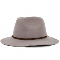 Brixton Wesley Fedora Hat - Natural/Dark Brown