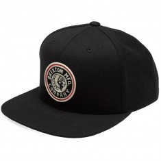 Brixton Rival Snapback Hat - Black/Off White