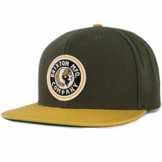 Brixton Rival Snapback Hat - Hunter Green