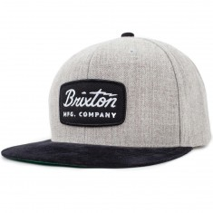 Brixton Jolt Snapback Hat - Black/Light Heather Grey