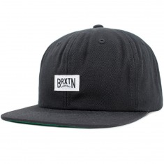 Brixton Langley Snapback Hat - Black/White