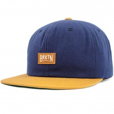 Brixton Langley Snapback Hat - Navy/Copper