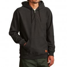 Brixton Longman Zip Fleece Hoodie - Washed Black