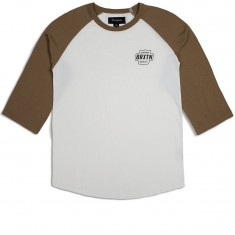 Brixton Garth 3/4 Sleeve T-Shirt - Off White