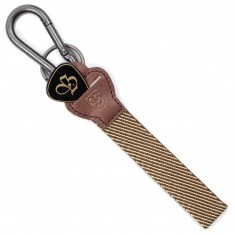 Brixton Pluck Key Chain - Brown/Khaki