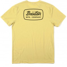 Brixton Jolt Premium T-Shirt - Washed Yellow