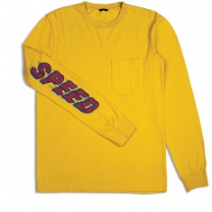 Brixton Accelerate Long Sleeve Pocket T-Shirt - Washed Yellow