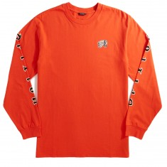 Brixton Primo Premium Long Sleeve  T-Shirt - Orange/Black