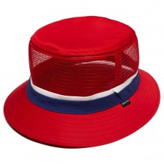 Brixton Hardy Bucket Hat - Red/Navy
