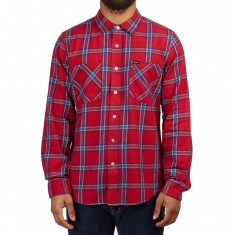 Brixton Bennet Longsleeve Flannel Shirt - Red/Navy