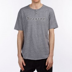 Brixton Proxy Henley Shirt - Heather Grey