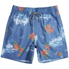Brixton Havana Boardshorts - Washed Royal