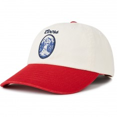 Brixton X Coors Filtered Cap Hat - Off White/red