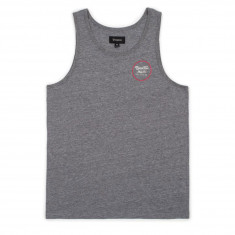Brixton Wheeler Tank Top - Heather Grey/Red