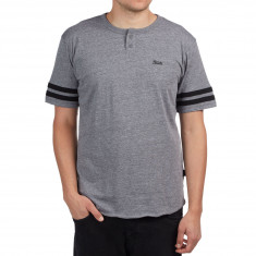 Brixton Potrero II Henley Shirt - Heather Grey/Black