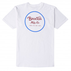 Brixton Wheeler II T-Shirt - White/Blue/Red