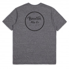 Brixton Wheeler II Premium T-Shirt - Heather Grey/Black