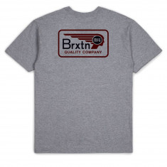 Brixton Messenger T-Shirt - Heather Grey