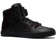 Supra Vaider Shoes - Black/Black/Red