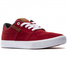 Supra Stacks Vulc II Shoes - Red/Navy/White