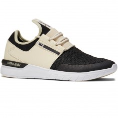 Supra Flow Shoes - Cream/Black/White