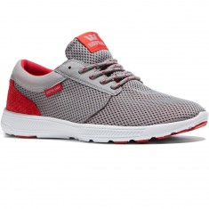 Supra Hammer Run Shoes - Grey/Red